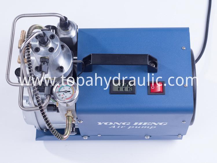 High pressure portable automatic shut off air compressor