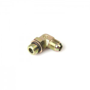 1JG9-OG Eaton Standard 90° Male To Male Galvanized Jic 37 Fitting with o-ring