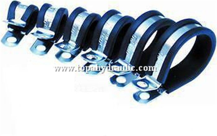 Telescopic pole stainless steel hose pipe clamp fitting
