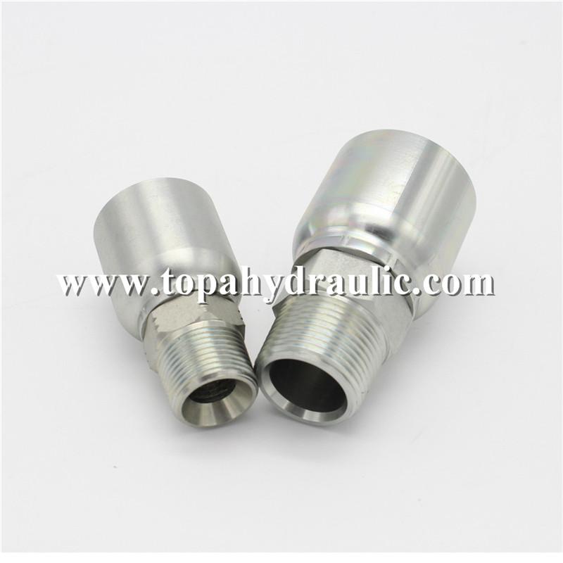 Popular brands Chrome Plate hydraulic hose connectors
