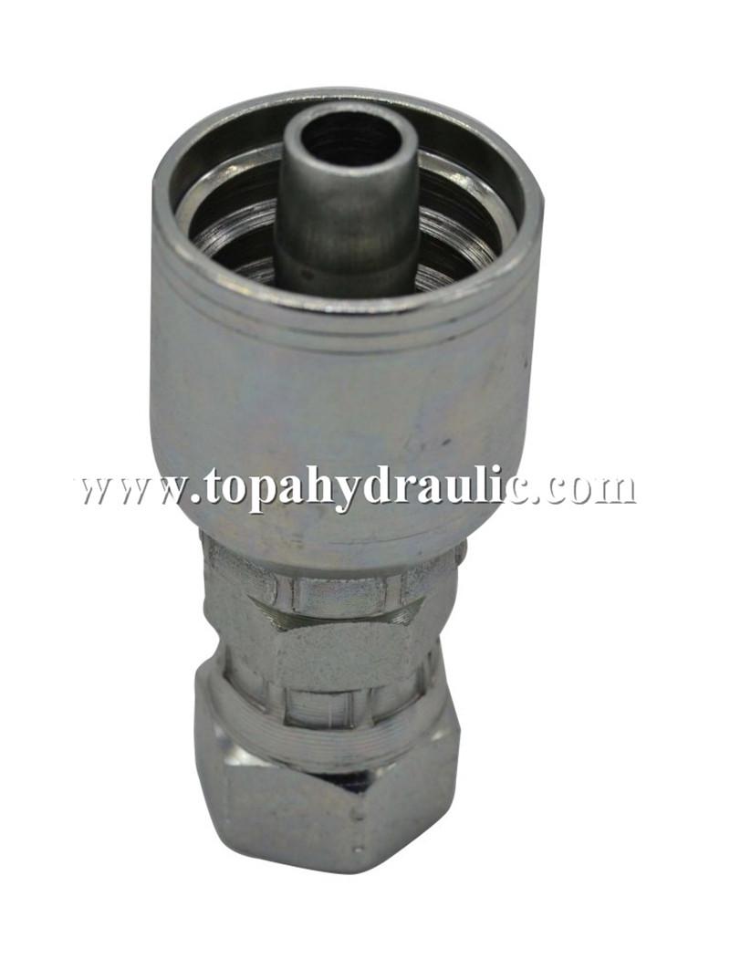 10643 Brass reusable hydraulic fittings jic