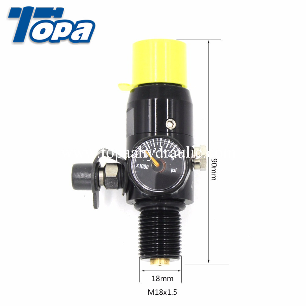 China wholesale Seamless Steel Tank For Airgun - Stainless steel japan co2 mini gas pcp regulator –  Topa
