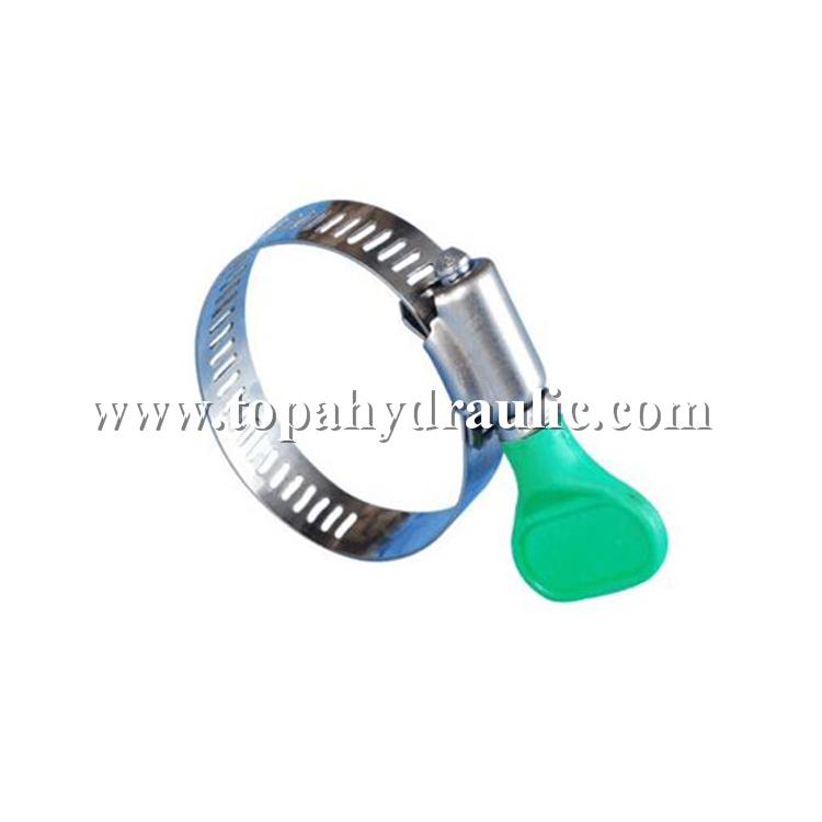 Narrow hose 8 hose worm gear hose clamp