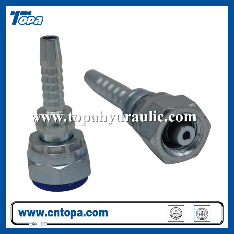 Factory wholesale Sae 8 To Npt - 20411 steel hose bobcat hydraulic swivel brass fittings –  Topa