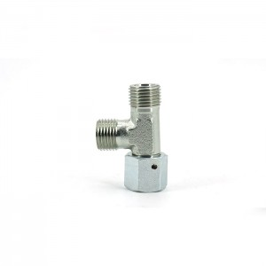 CC CD Stainless Steel 24 Cone Seal Equal Hydraulic Hose Fitting Adapter Tees