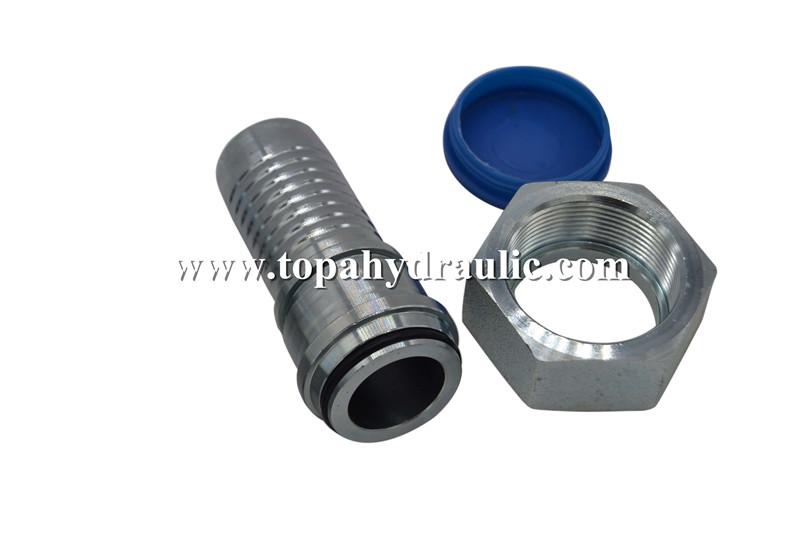 Swivel metric high pressure brass hydraulic hose fittings