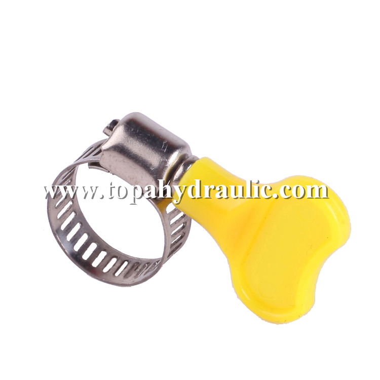 Stainless steel quick release silicone hose clamps