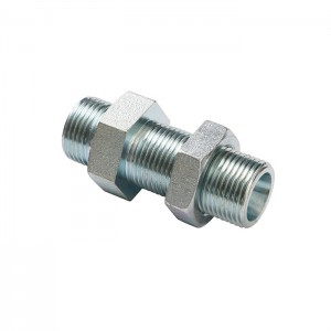 6d Straight Bulkhead Male To Male Hydraulic Fittings Adapter Connector