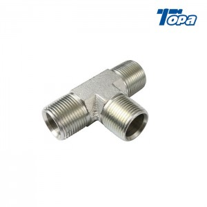 5600 AN 11 To 9 Hose Pipe Tee Elbow Hydraulic Adapters With High Pressure