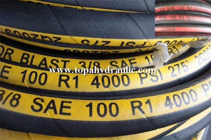 High pressure flexible rubber hydraulic hose pipe