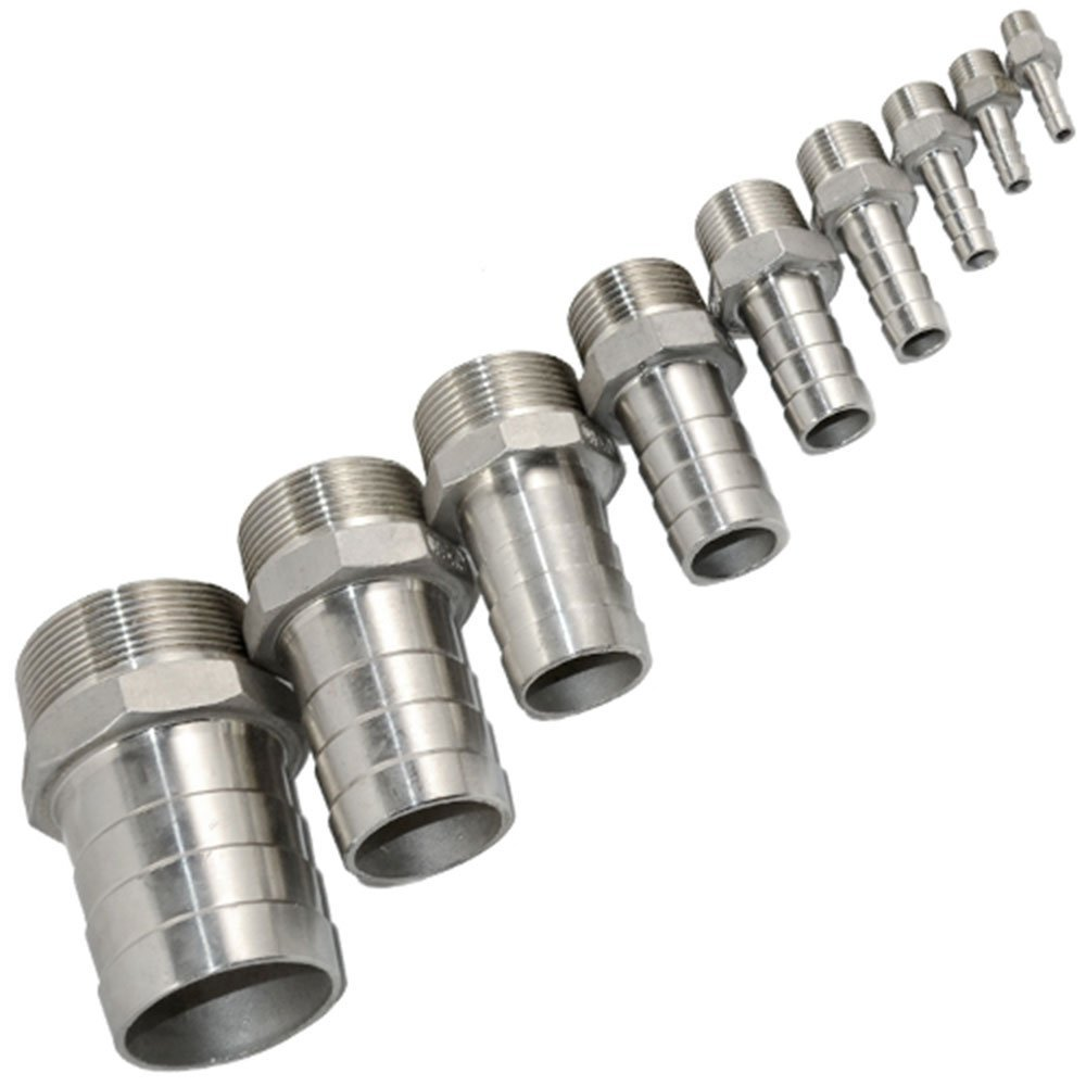 Best parker hydraulic brass hose barb fittings