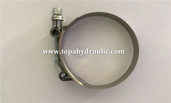 Extra wide circular ring lined hose clamps