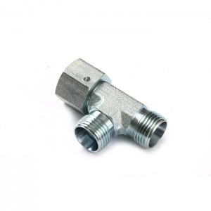 Cc Hydraulic Reducing Fittings Tee Metric Male To Metric Female Adapter
