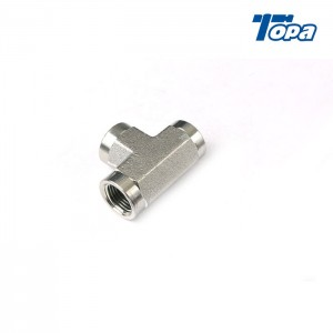 5605 GN-PK 1/4 Npt To Npt Brass Tee Fittings 2 Pieces 3/8 Inch Hose Adapters