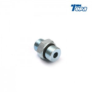 1FH fittings reusable ends male orfs on flatface cummins hydraulic pump adapter