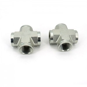 5652 Best Selling Hydraulic Union Tee Npt Cross Pipe Fitting